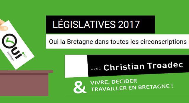 Législatives 2017 : Soutenez les candidats OLB Oui la Bretagne